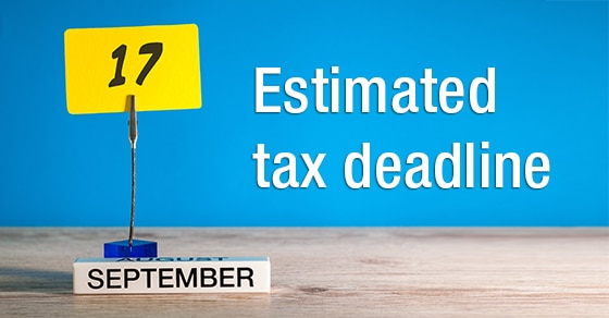 You are currently viewing Do you need to make an estimated tax payment by September 17?