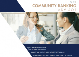 M&J's COMMUNITY BANKING ADVISOR – Fall Issue