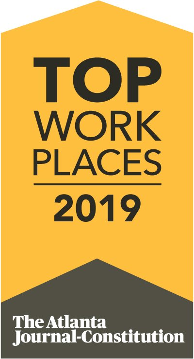 top places to work logo - atlanta journal constitution