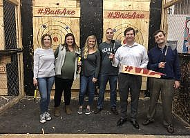 M&J Mentor Group Visits Bad Axe Throwing