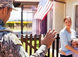 How does an employee's military leave affect 401(k) loan repayments?