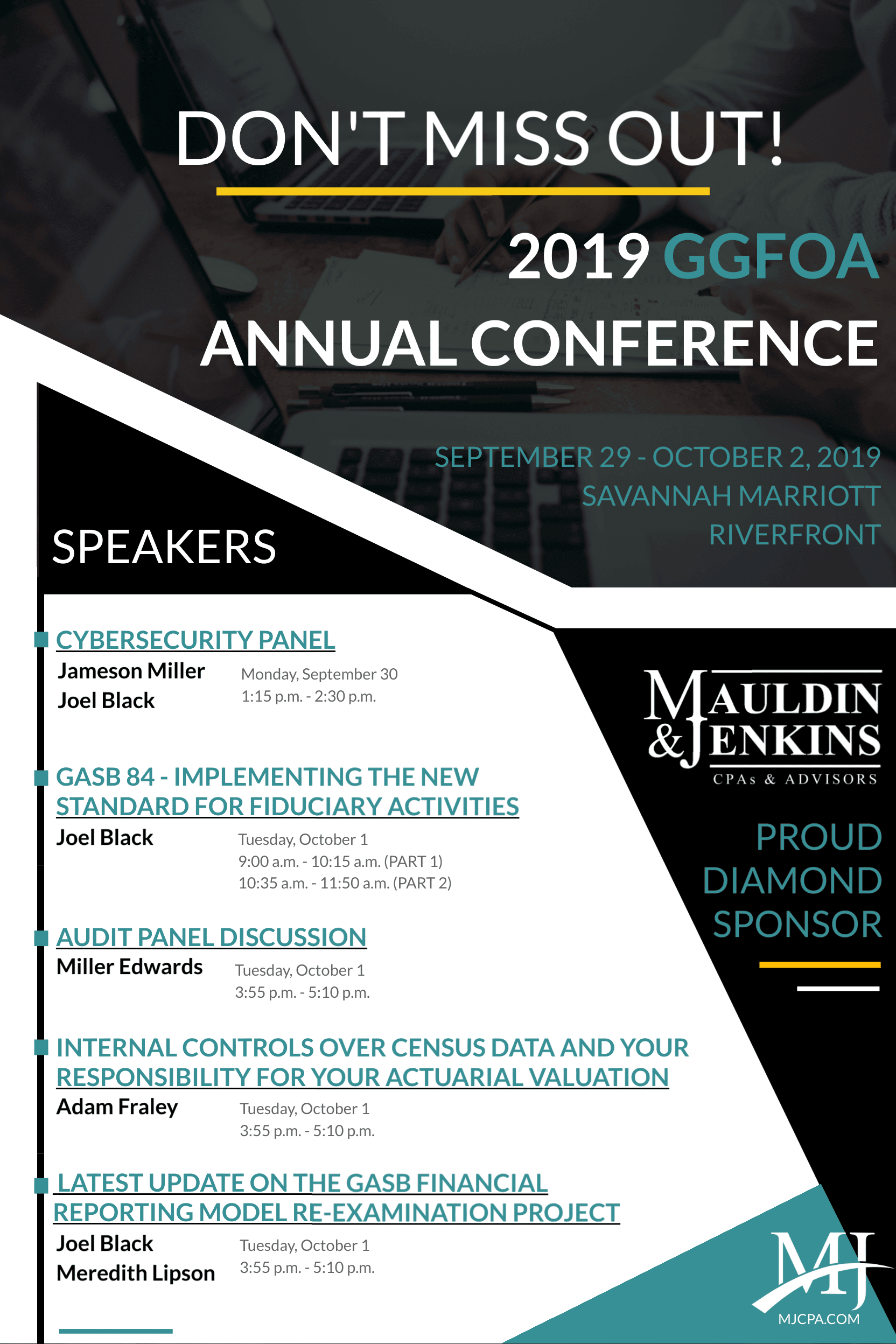 Don't Miss Us at The 2019 GGFOA Annual Conference