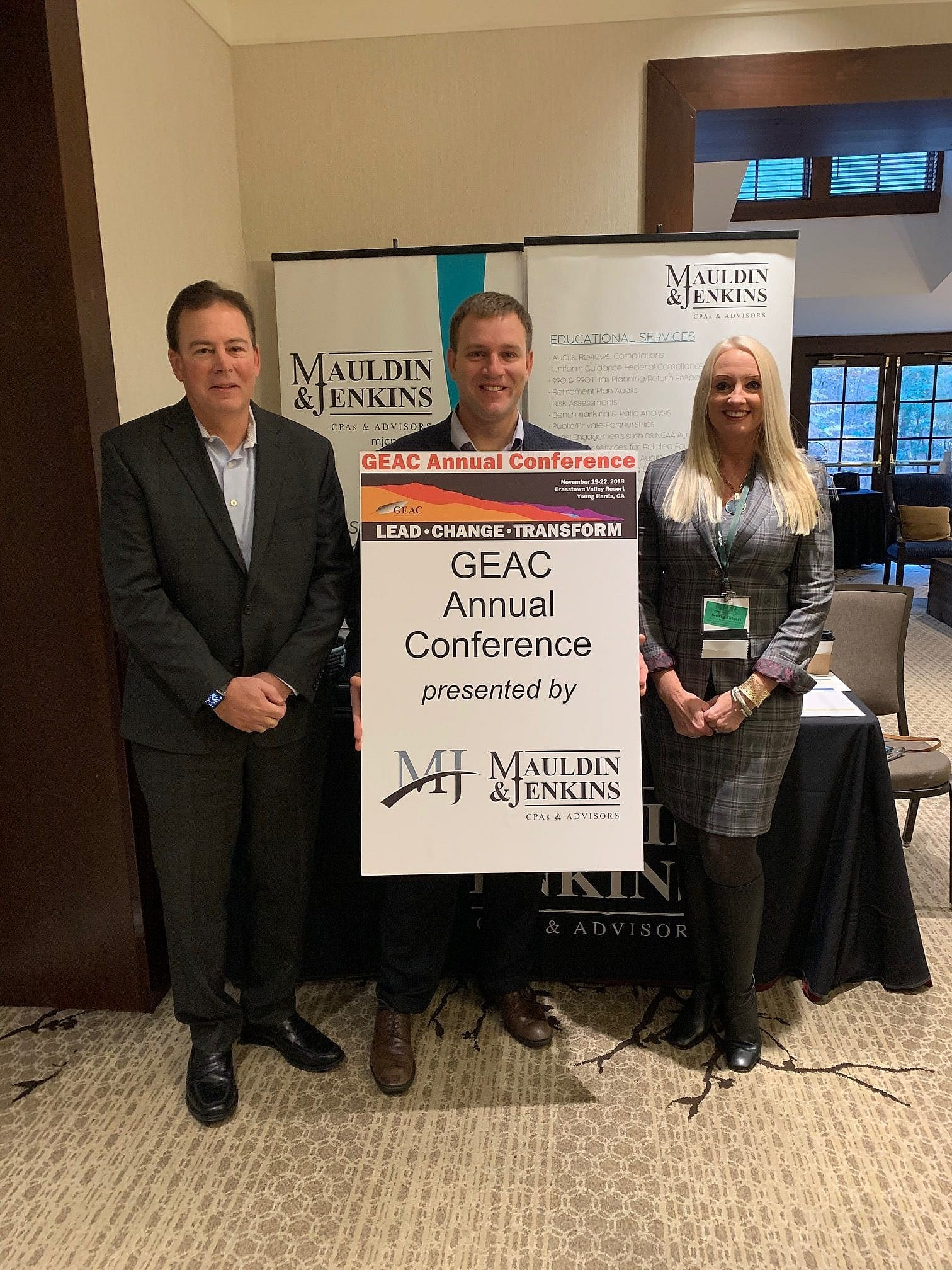 mauldin & jenkins geac conference jeff fucito jon schultz and aleisa howell
