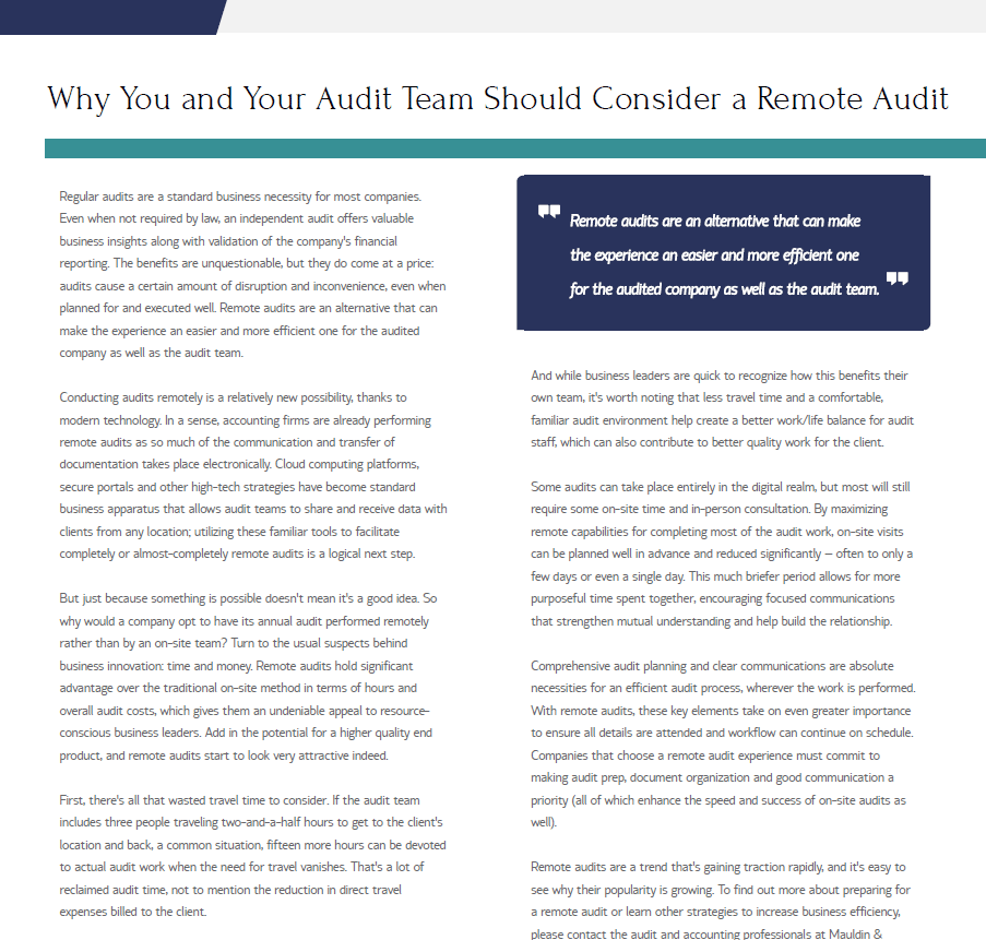 why you and your audit team should consider a remote audit