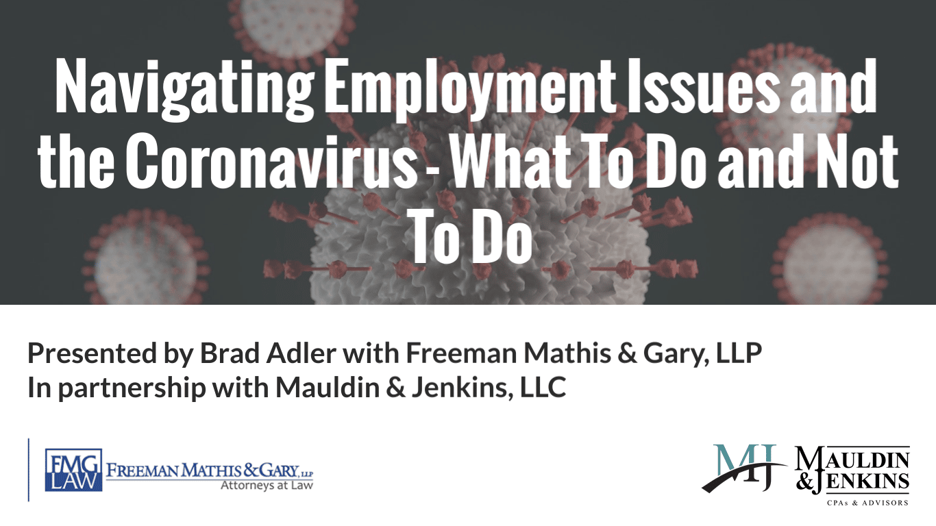 Navigating employment issues and the coronavirus - what to do and not to do
