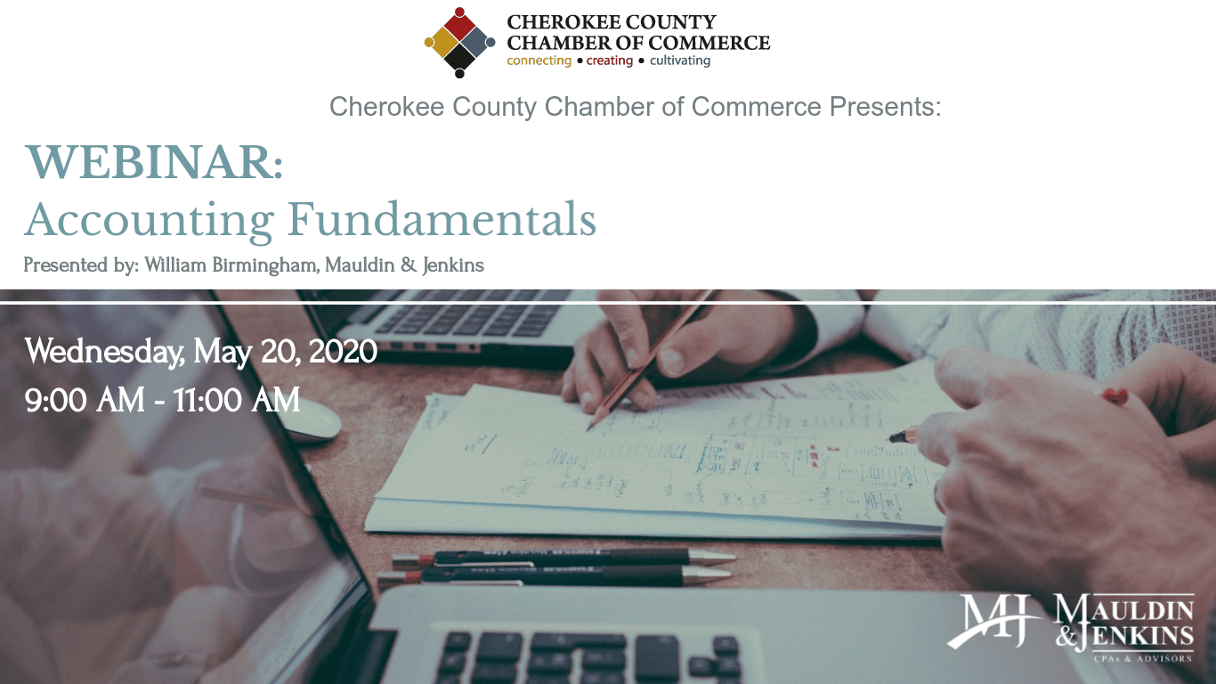 Cherokee County Chamber of Commerce Hosts Accounting Fundamentals Webinar