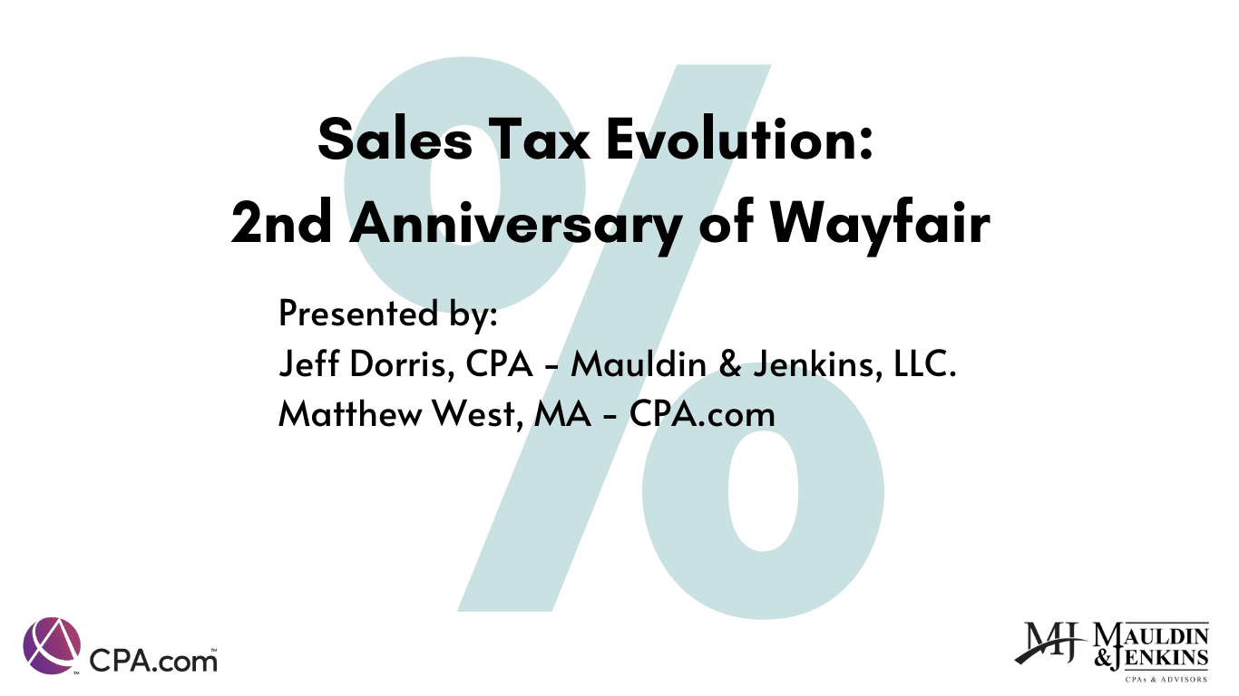 sales tax evolution: second anniversary of wayfair