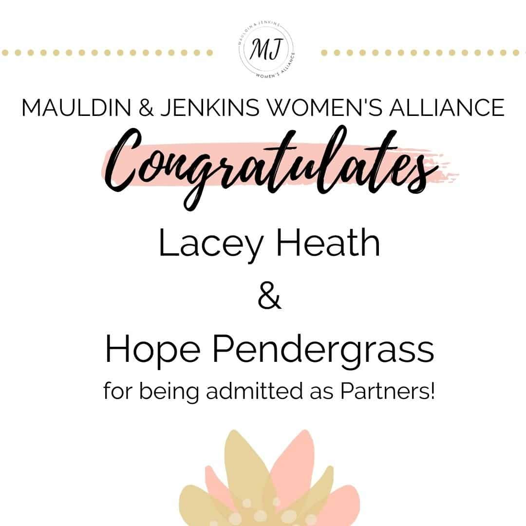 Congratulations to Lacey Heath & Hope Pendergrass!