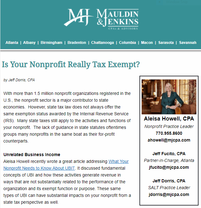 Mauldin & Jenkins top accounting firm